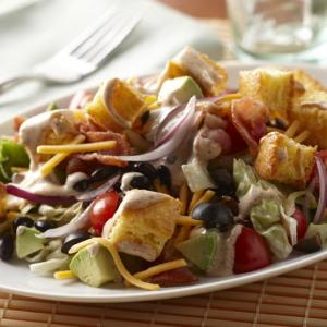 Southwestern Salad with Cornbread Croutons