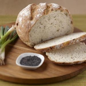 Green Onion and Poppy Seed Sourdough Bread